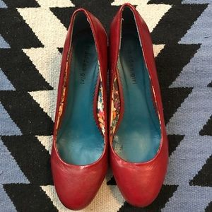Madden Girl - red kitten heel shoes